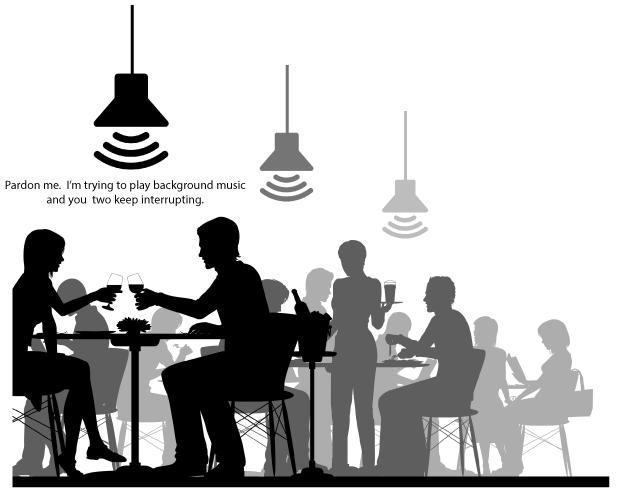 Pendant Speakers - Restaurant