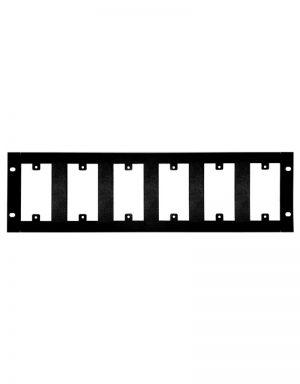 RP6 Rack Plate - 6 Gangs
