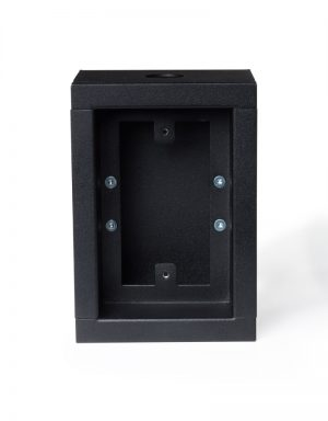 Surface mount single gang low voltage case - no door.