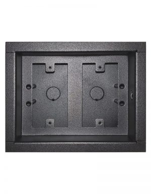 Surface mount dual gang low voltage case - no door.