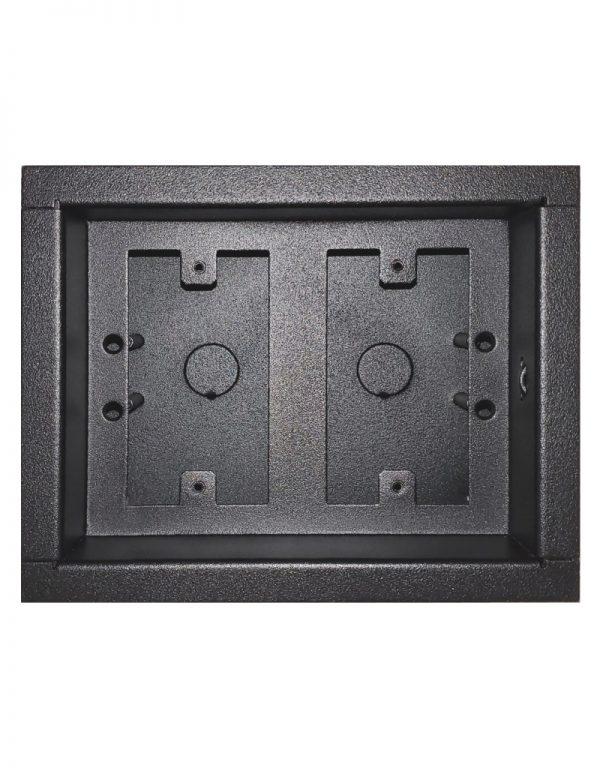 Surface mount dual gang low voltage case - no door.