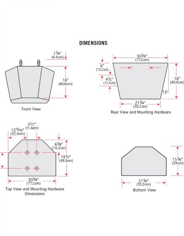 SP540A - Dimensions