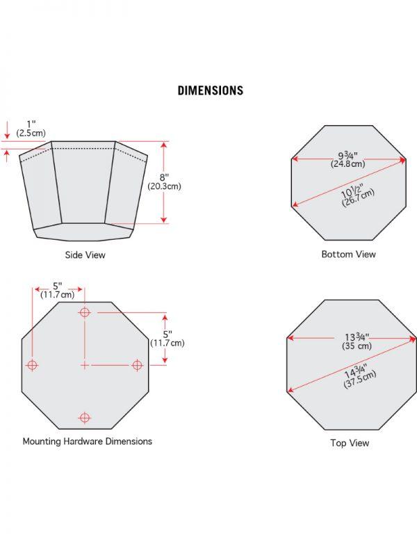 SP800A - Dimensions